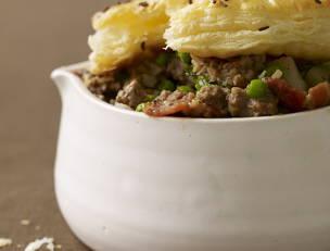 Ground Beef Not-Potpies with Caraway-Salt Crust