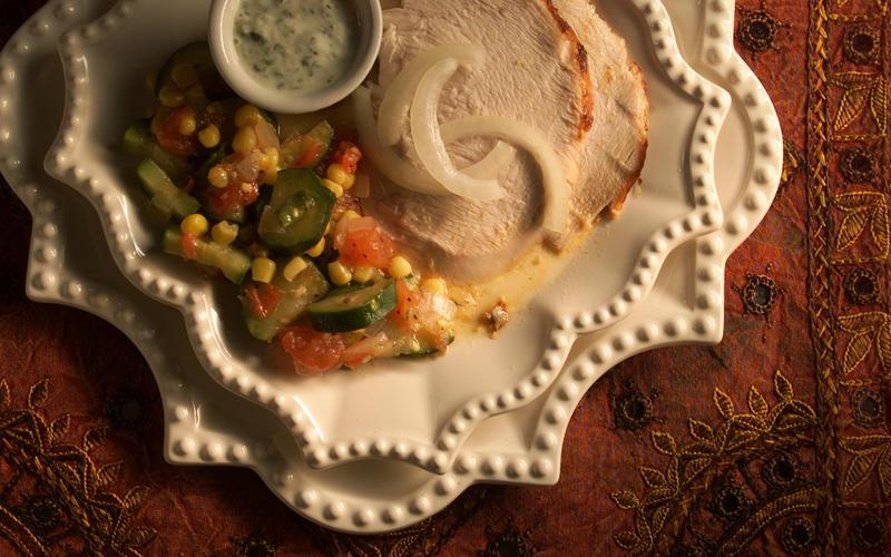 Gurinder Chadha's tandoori turkey with spicy gravy