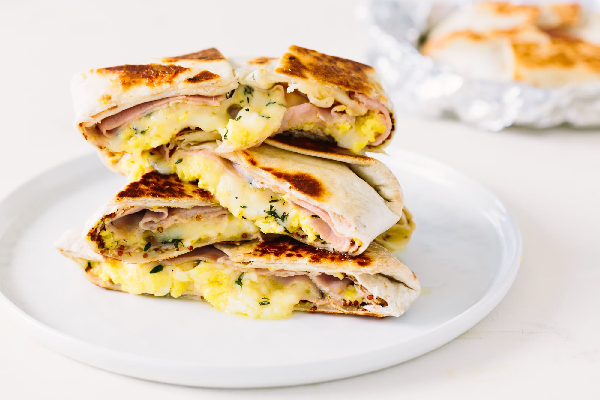 Ham, Egg, and Cheese Breakfast Quesadilla