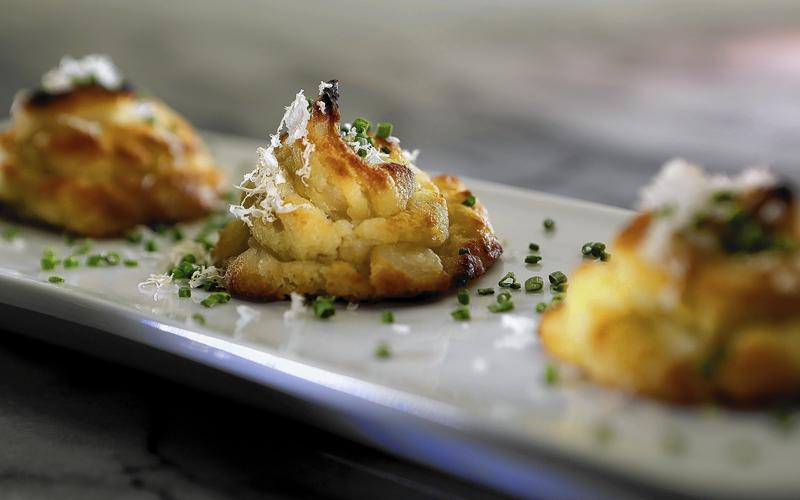 Horseradish duchess potatoes
