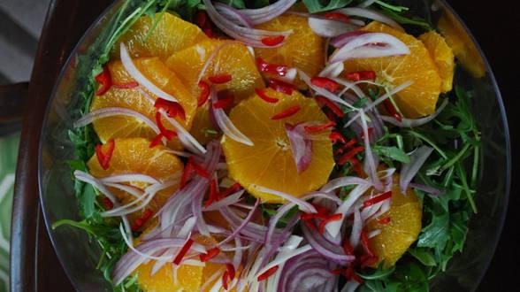 Hot and Sweet Orange Salad