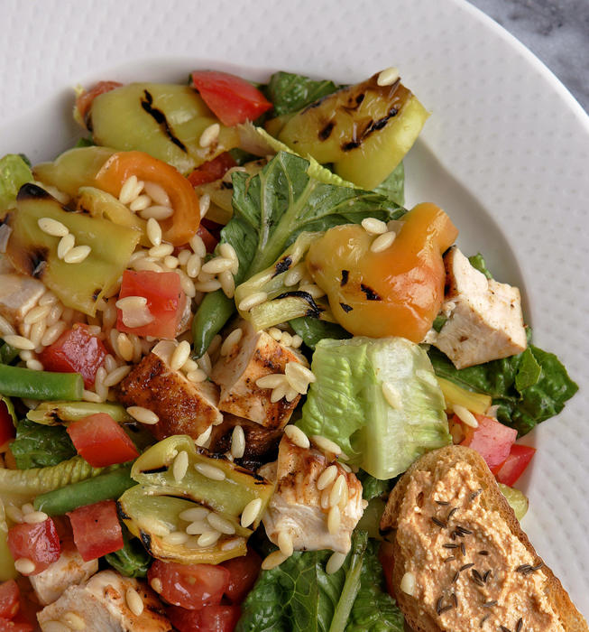 Hungarian pepper salad