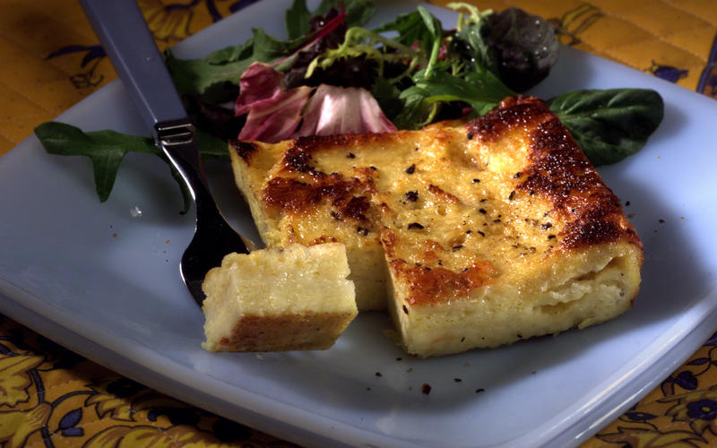 Italian cheese custard sandwich
