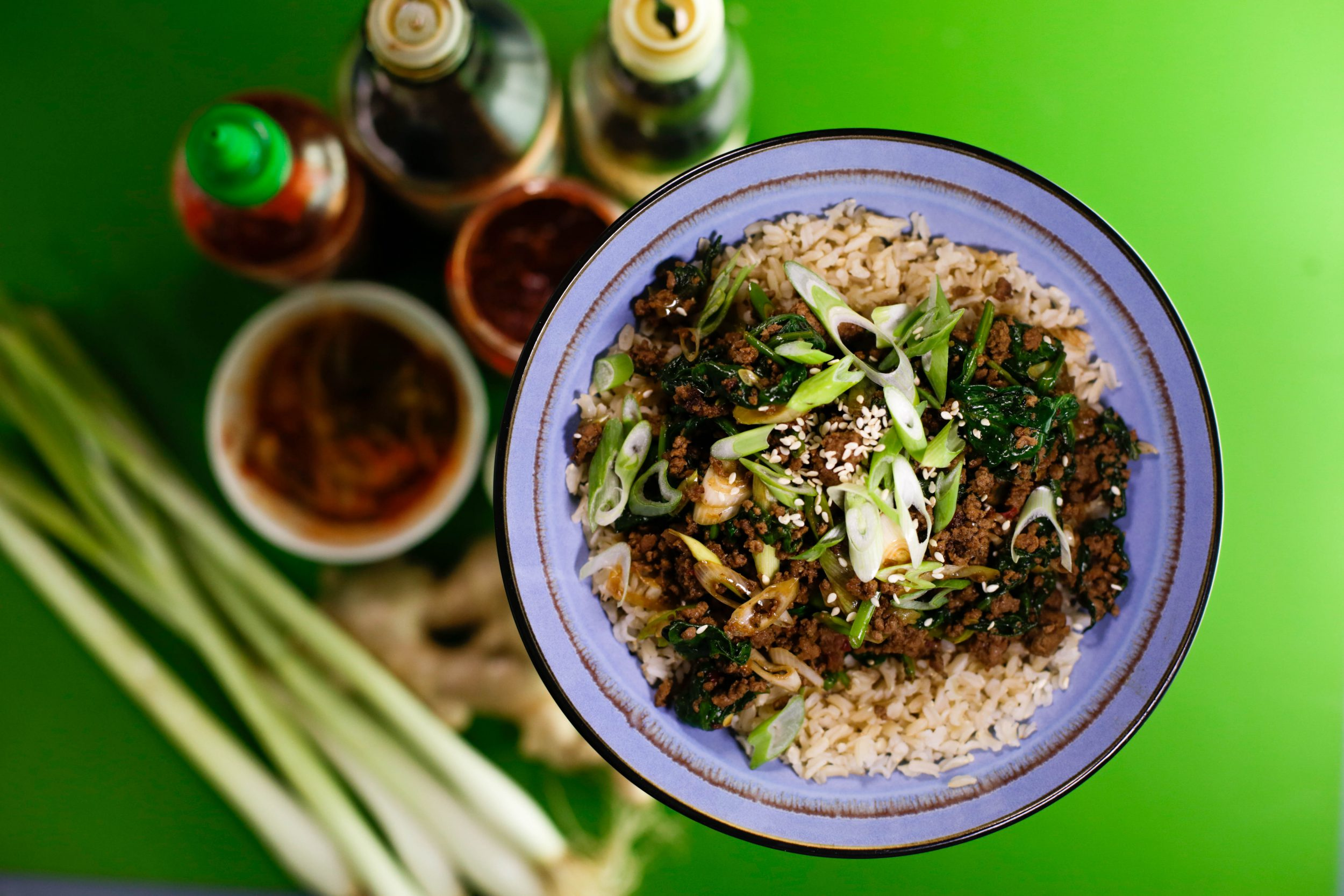 Korean-Style Beef Bowl with Brown Rice