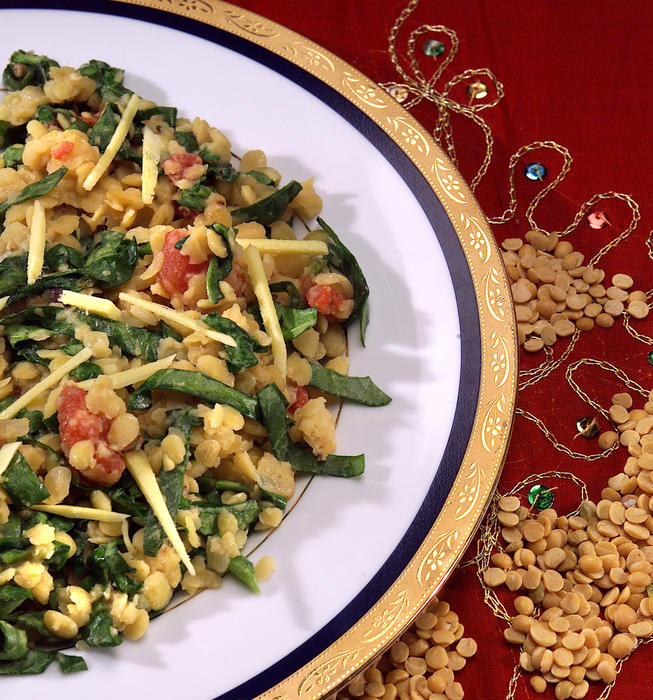 Lentils With Spinach