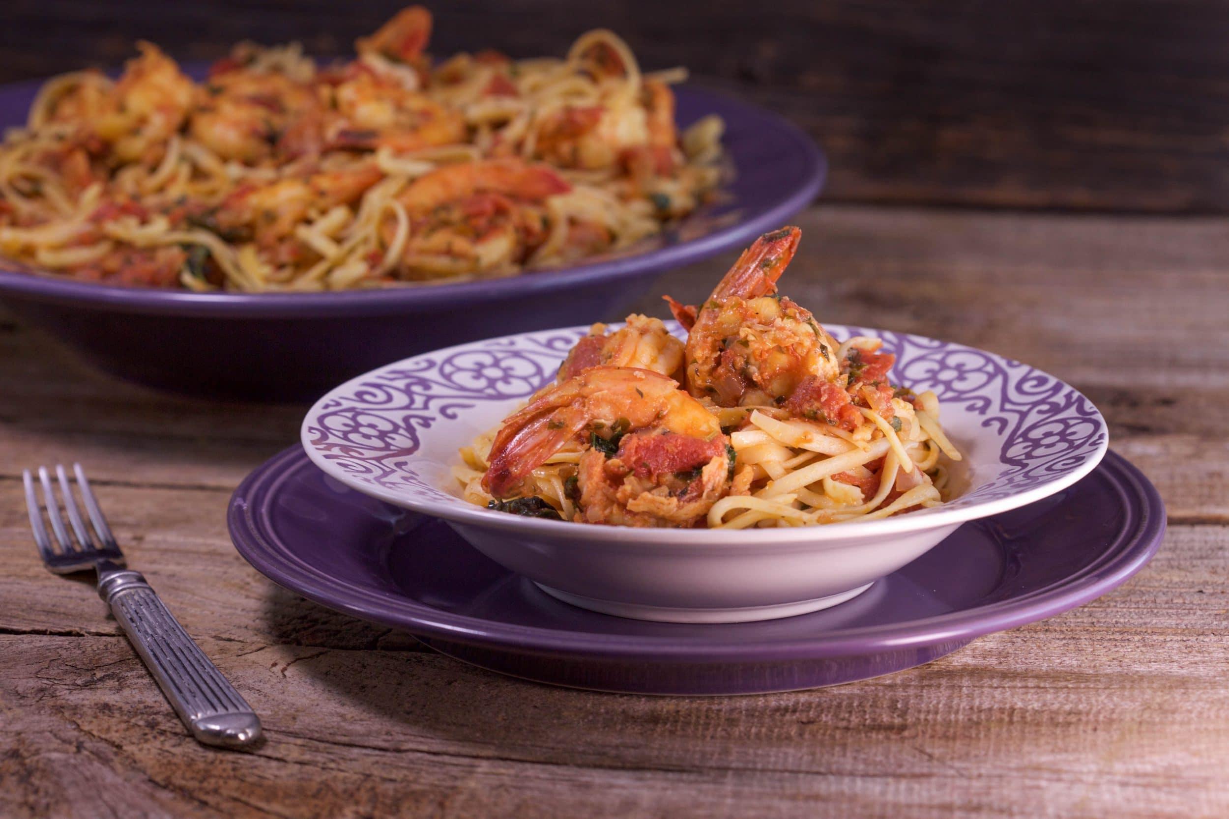 Linguini with Shrimp Fra Diavolo