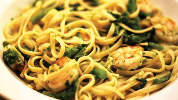 Liz's Linguine with Shrimp and Broccoli Rabe