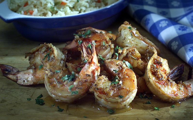 Louisiana barbecue shrimp