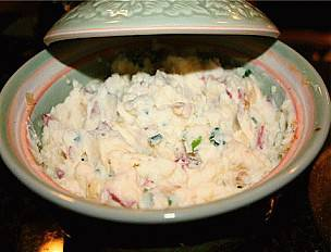 Mashed Potatoes with Cream Cheese and Chives