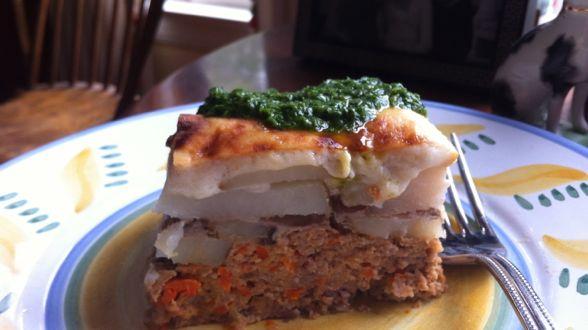 Meatloaf and Potato Pileup