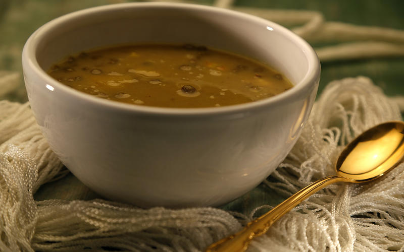 Mendocino Farms' coconut curry cauliflower soup