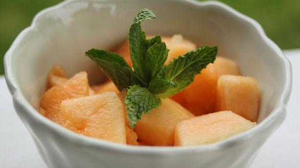 Mint Julep Melon Bites