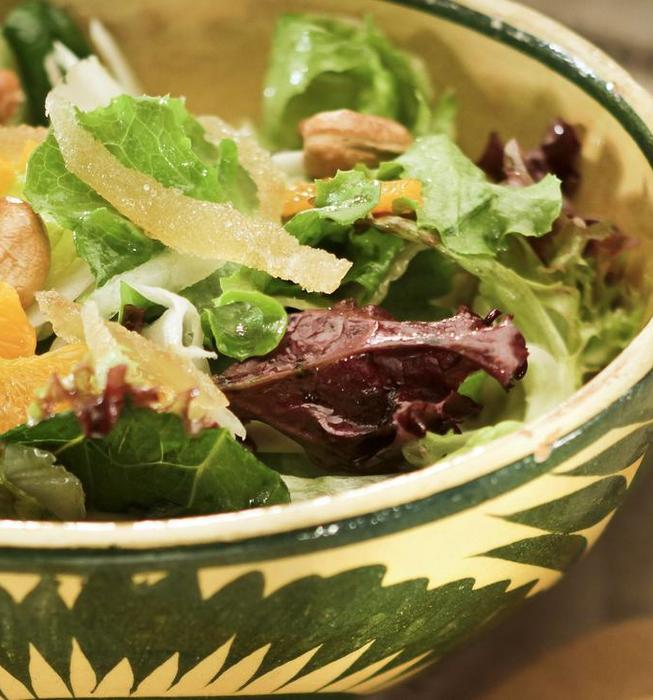 Nage's clementine salad
