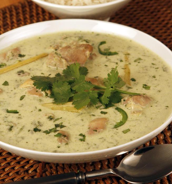 Novo's Thai green chicken curry