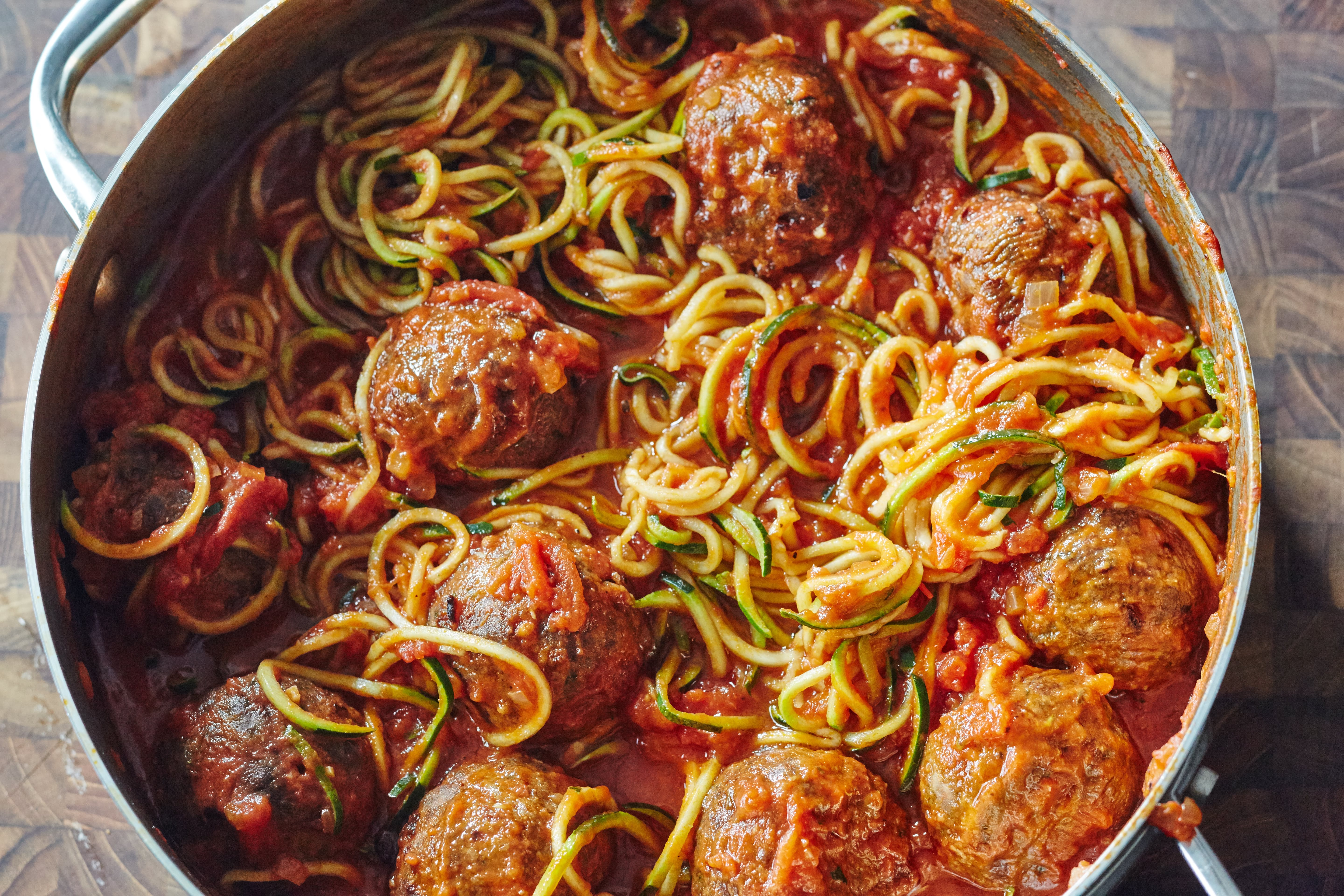 One-Pot 30-Minute Zoodles and Meatballs
