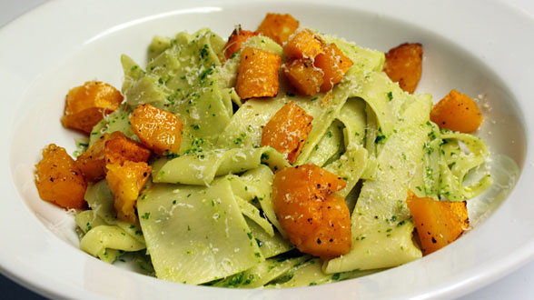 Pappardelle with Autumn Pesto and Roast Squash