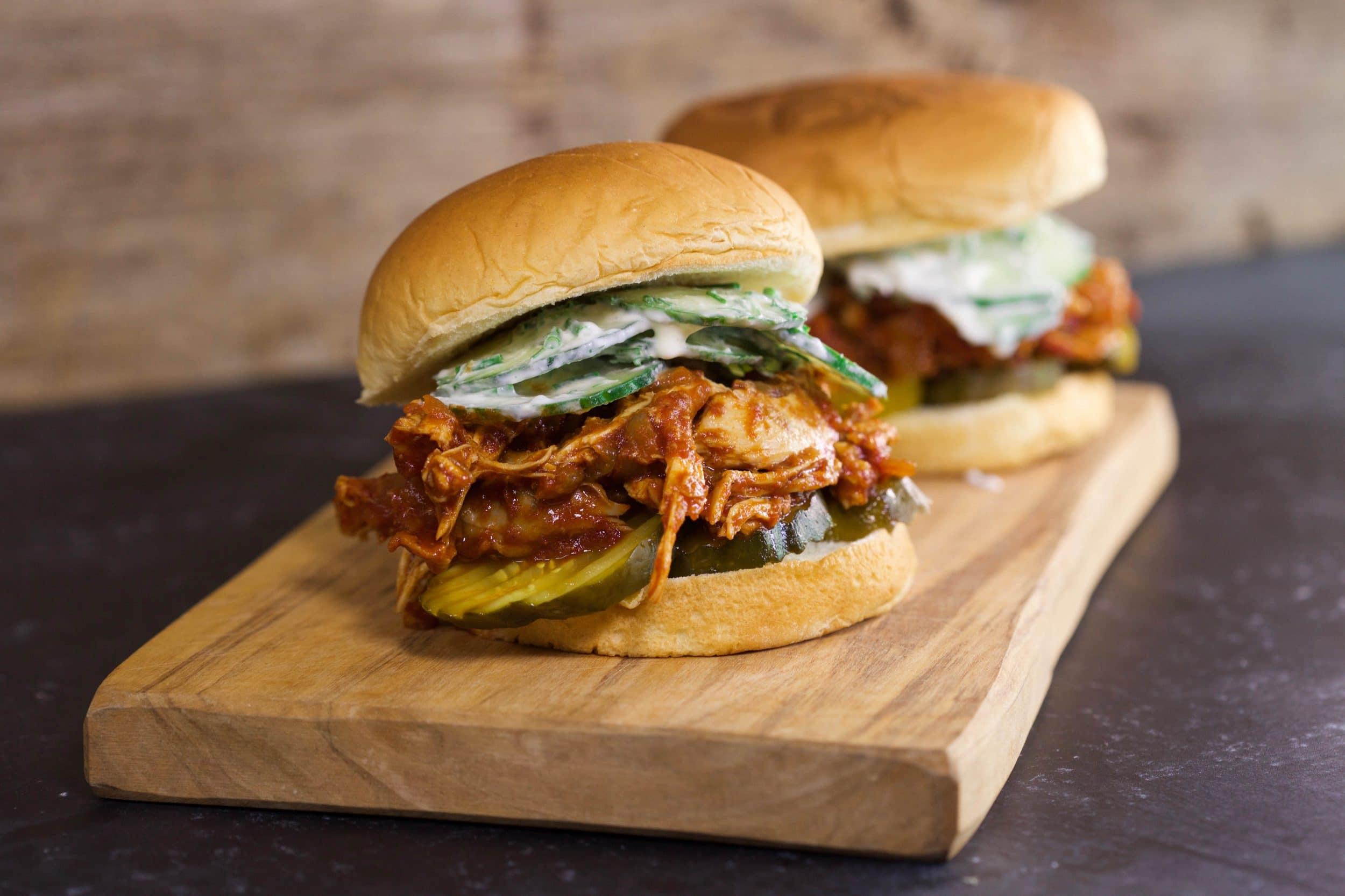 Paprika BBQ Pulled Chicken Sandwiches
