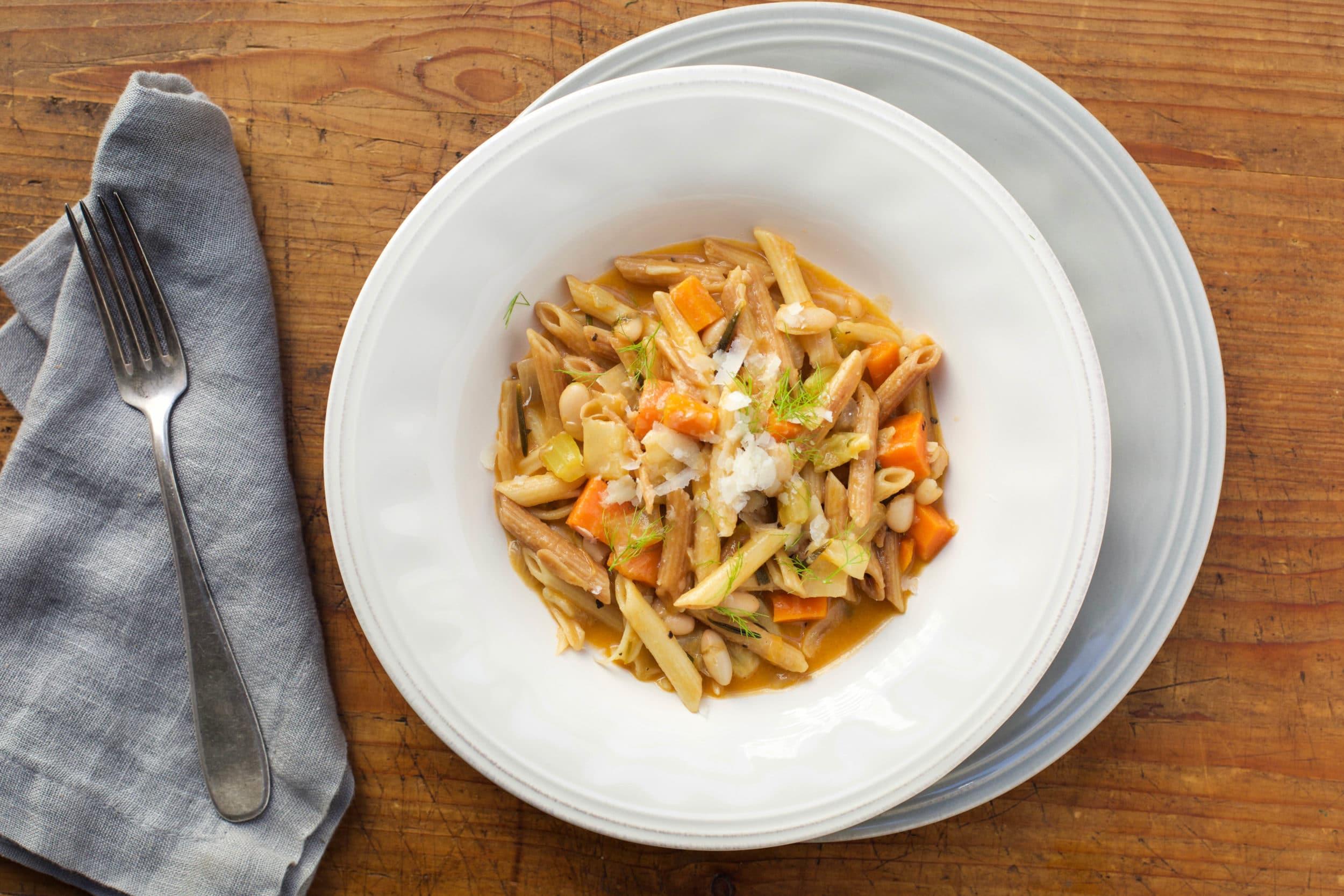Pasta e Fagioli (Cooked in the Style of Risotto – Pasta Risottata)