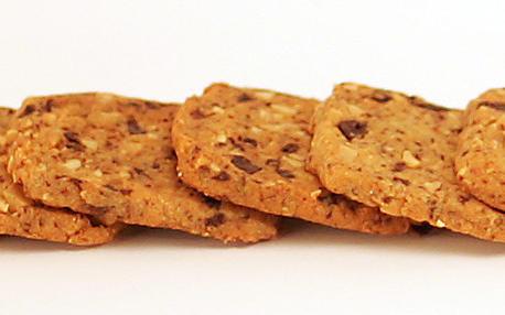Peanut and bittersweet chocolate cookies