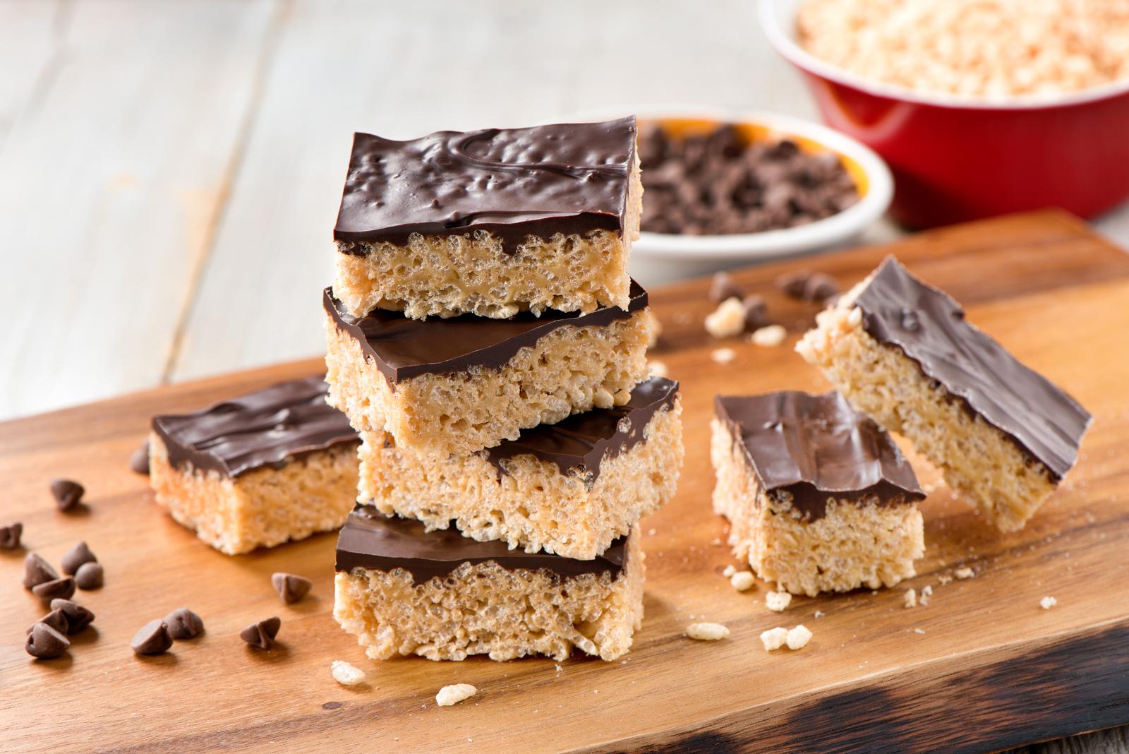 Peanut Butter Chocolate Rice Krispie® Treats