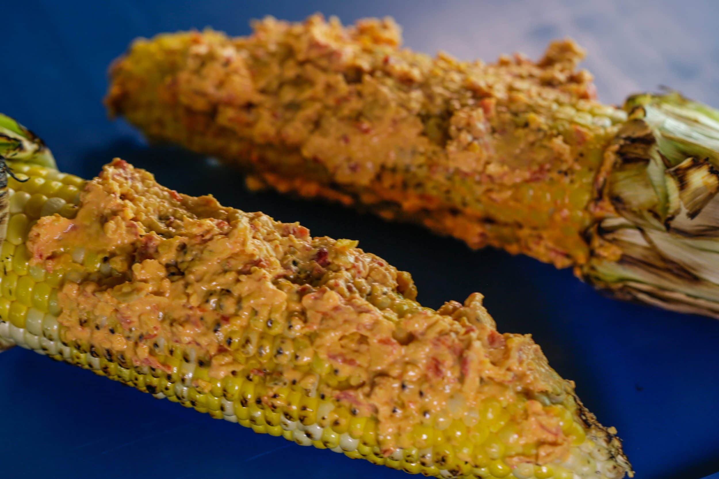 Pimiento Cheese Grilled Corn Topping