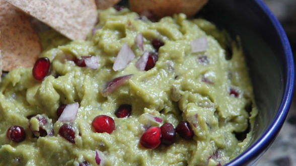 Pomegranate Guacamole