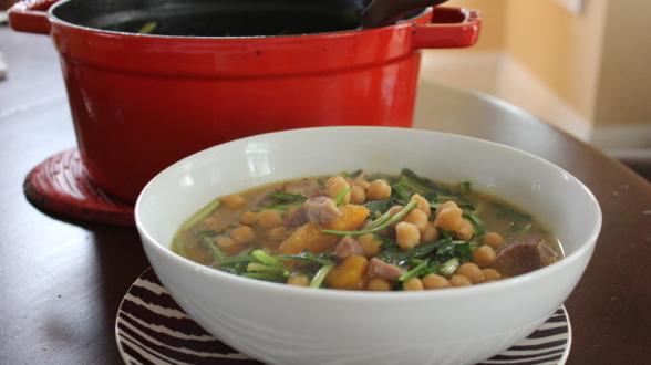 Potaje de Garbanzos: Garbanzo and Pork Stew