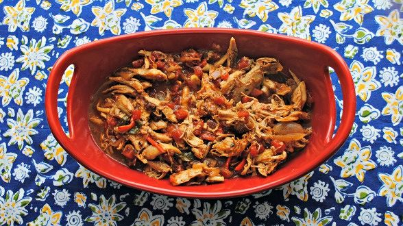 Pulled Chipotle Chicken and Fixin's