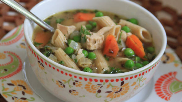Quick Chicken Soup with Pasta