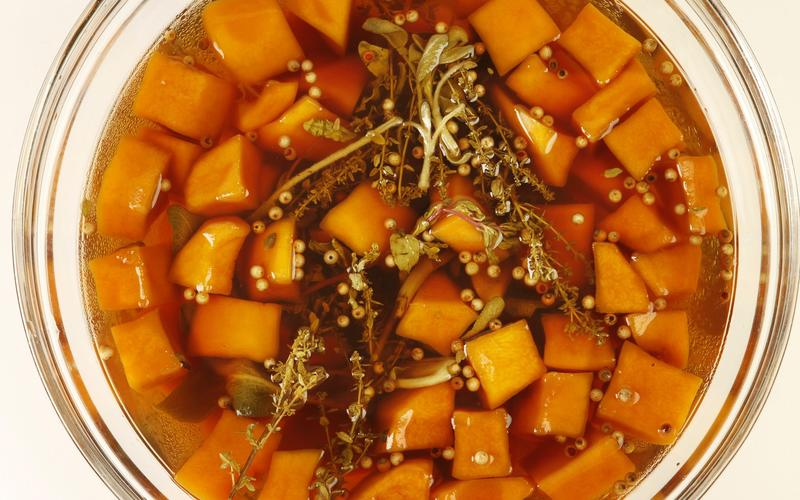 Quick pickled pumpkin