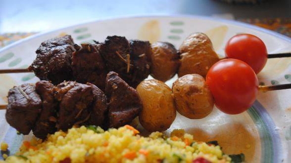 Rachael Ray's Steak and Potato Kebabs