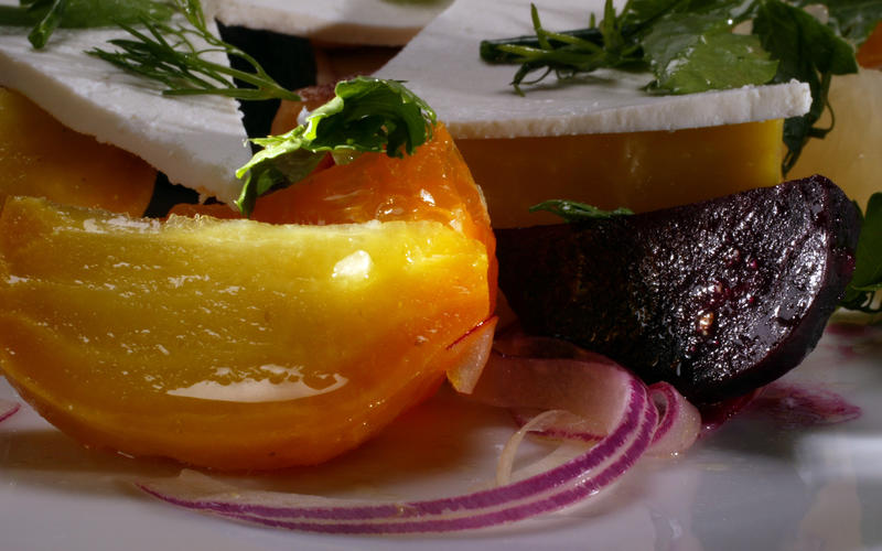Roasted beet salad with citrus, fennel and ricotta salata