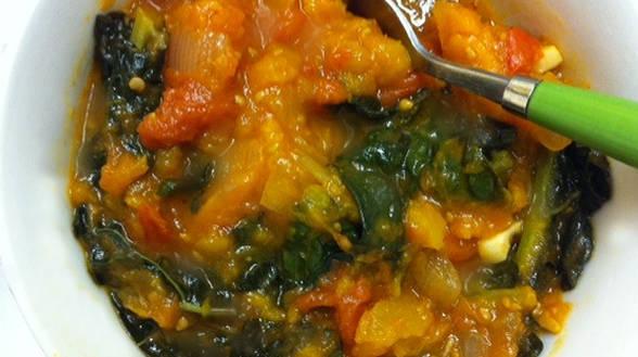 Roasted Squash, Kale and Tomato