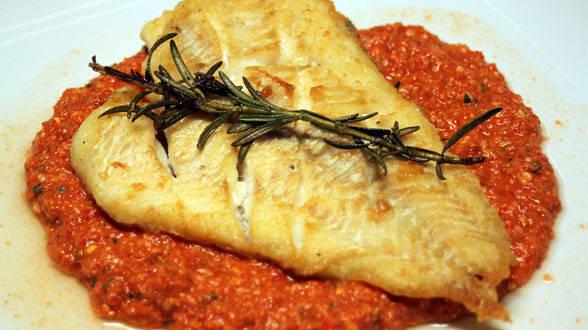 Roman-esco (Italian Romesco) with Red Snapper