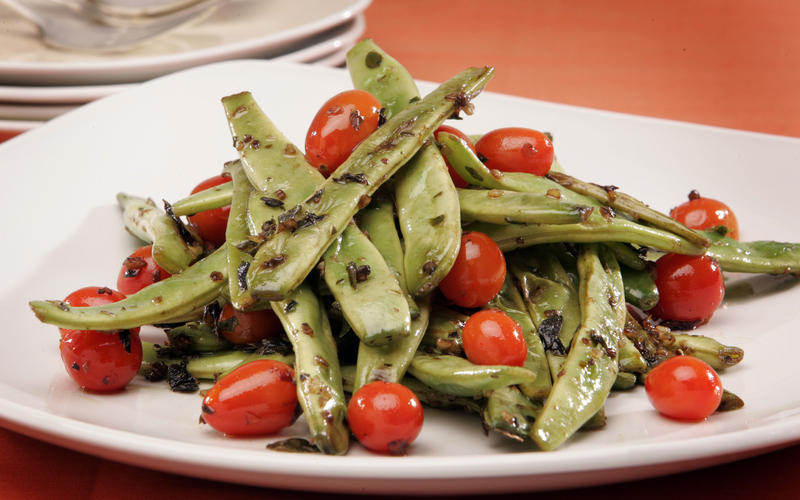 Romano beans sauteed with oregano