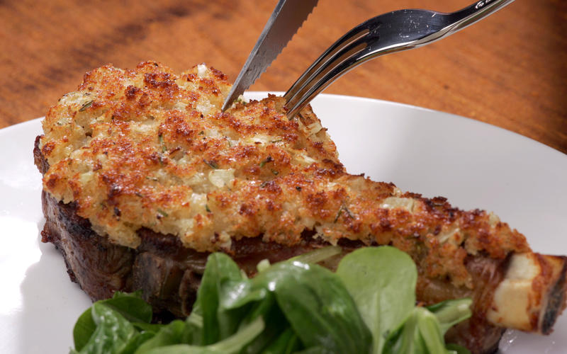 Rosemary- Parmesan crusted veal chops