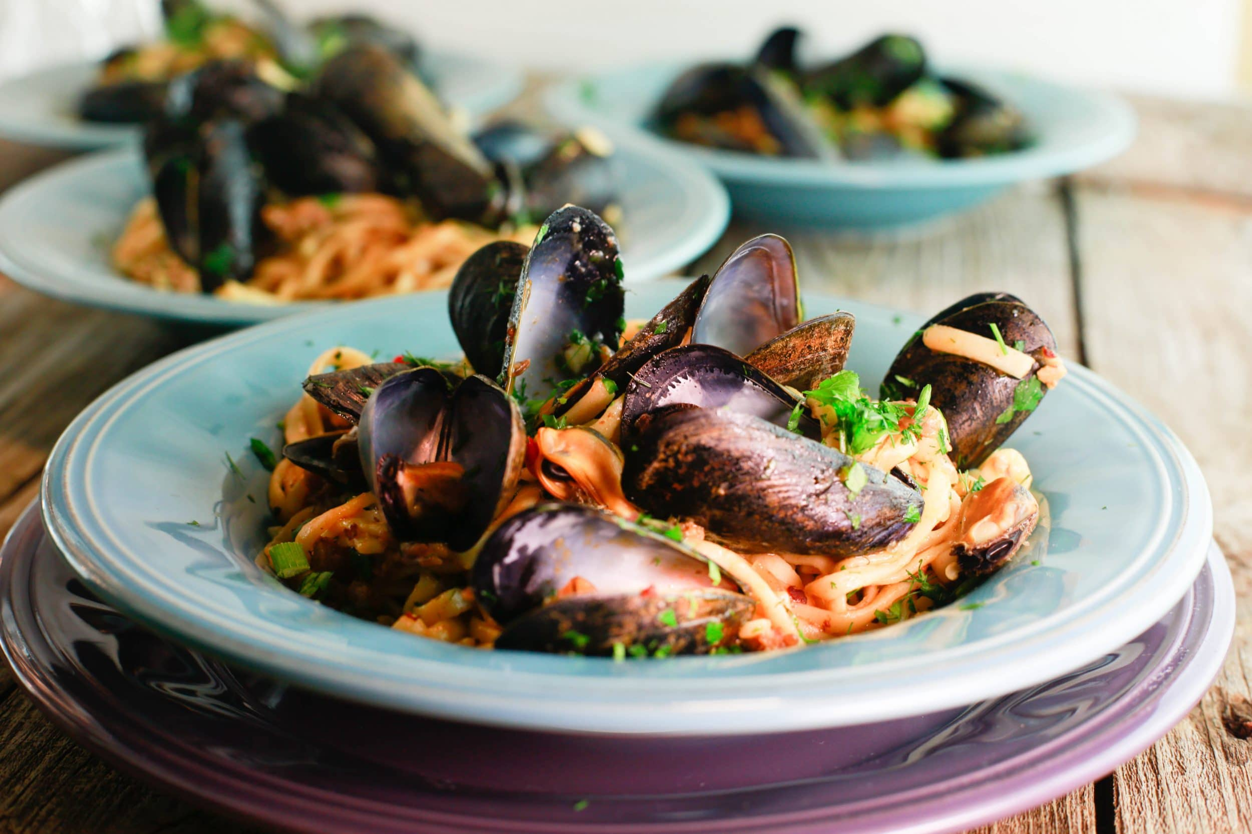 Sausage and Mussels Linguini