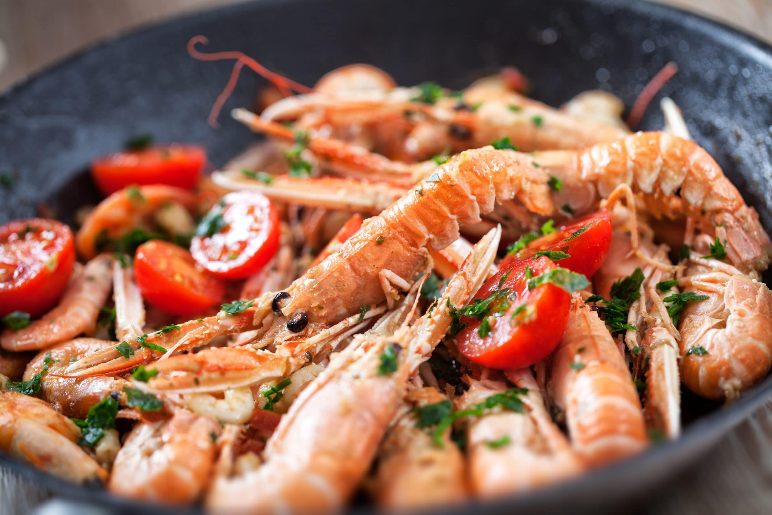 Scampi with Cherry Tomatoes