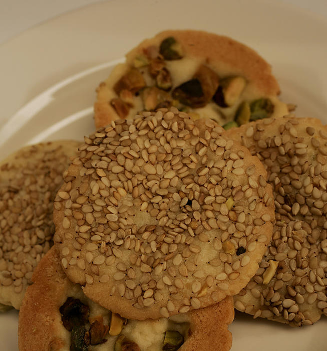 Sesame-pistachio cookies (barazek)