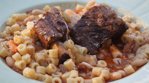Short Ribs with Pasta e Fagioli
