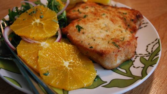 Sicilian Swordfish Cutlets and Citrus Salad