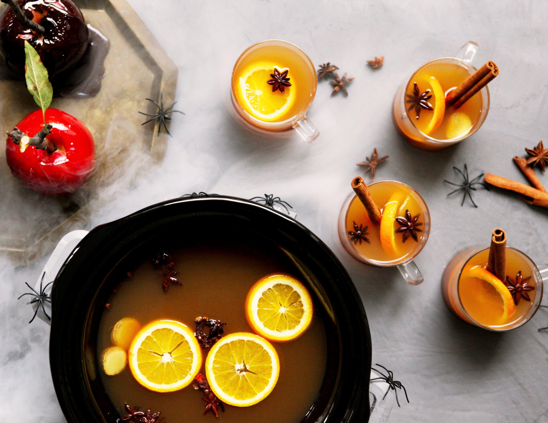 Slow-Cooker Spiked Mulled Cider