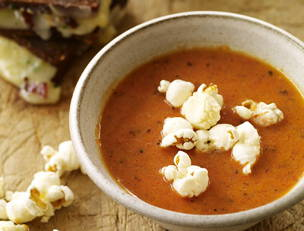 Smoky Tomato Soup with Mini Grilled Cheese Sammies