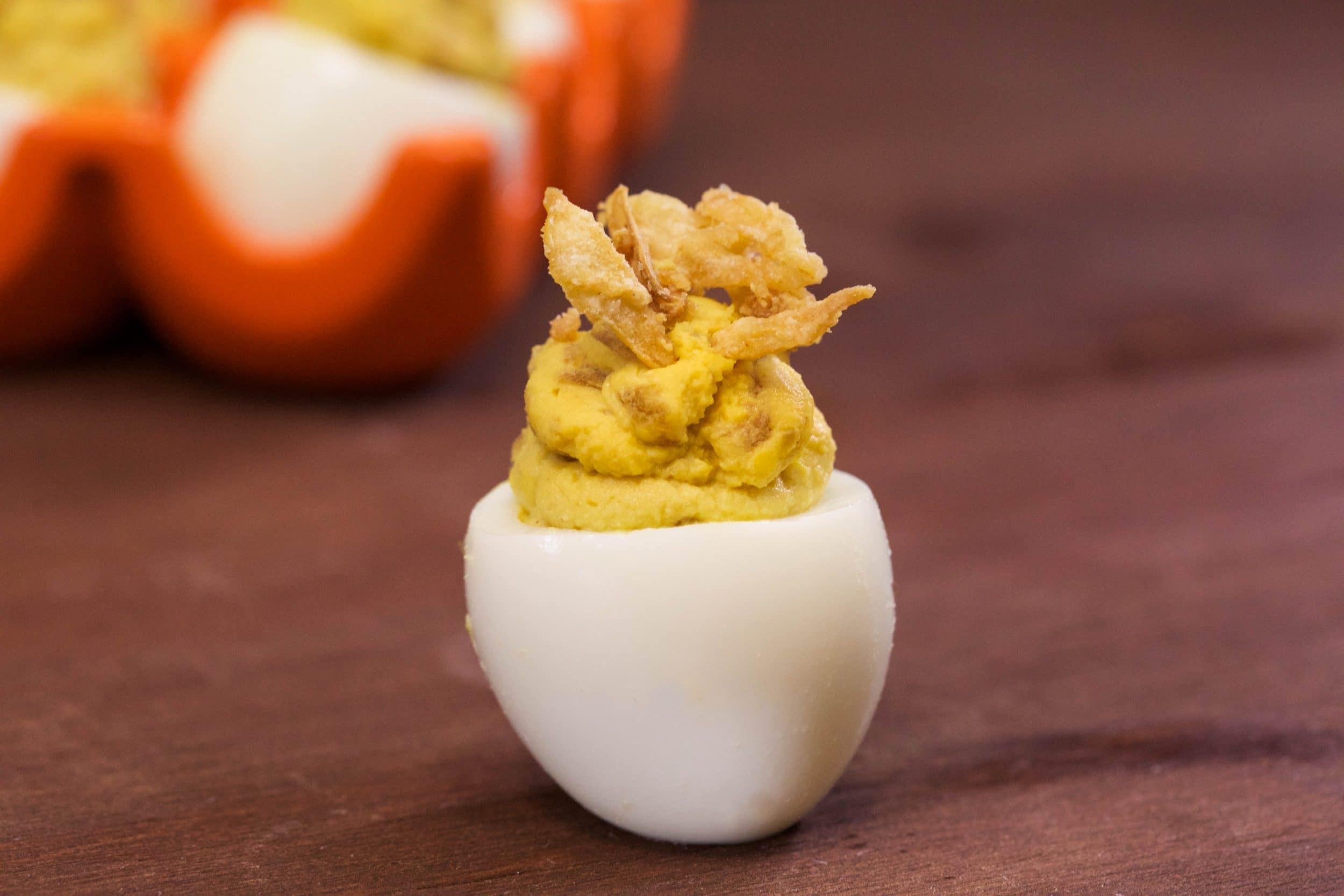 Sour Cream and Onion Stuffed Eggs