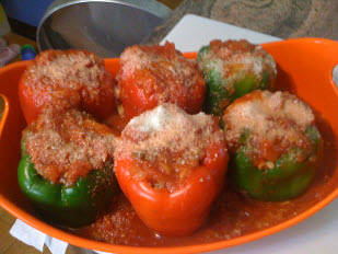 Spanish Stuffed Bell Peppers