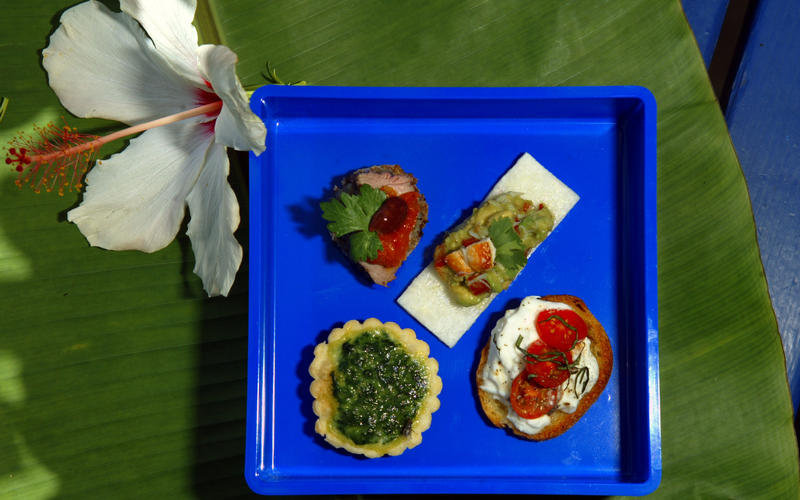 Spinach and sweet miso tartlets