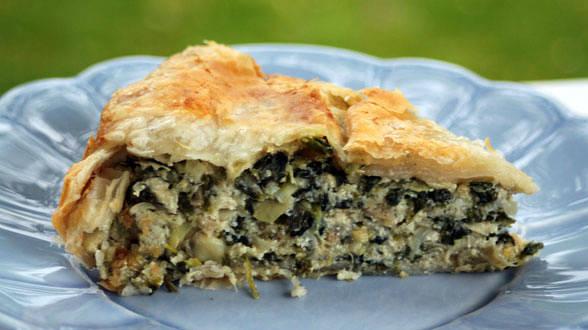 Spinach Artichoke Ricotta Pie