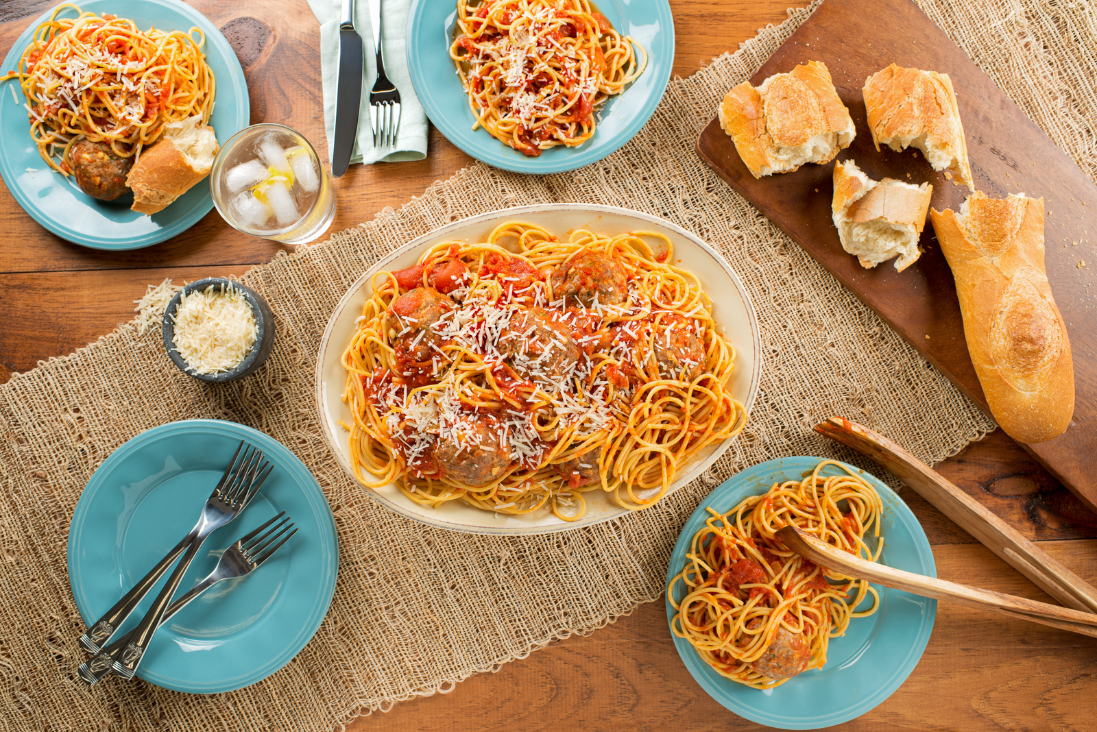 Sunday Spaghetti and Meatballs