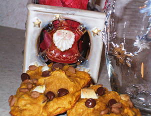 Sunny Pumpkin Choco Cookies
