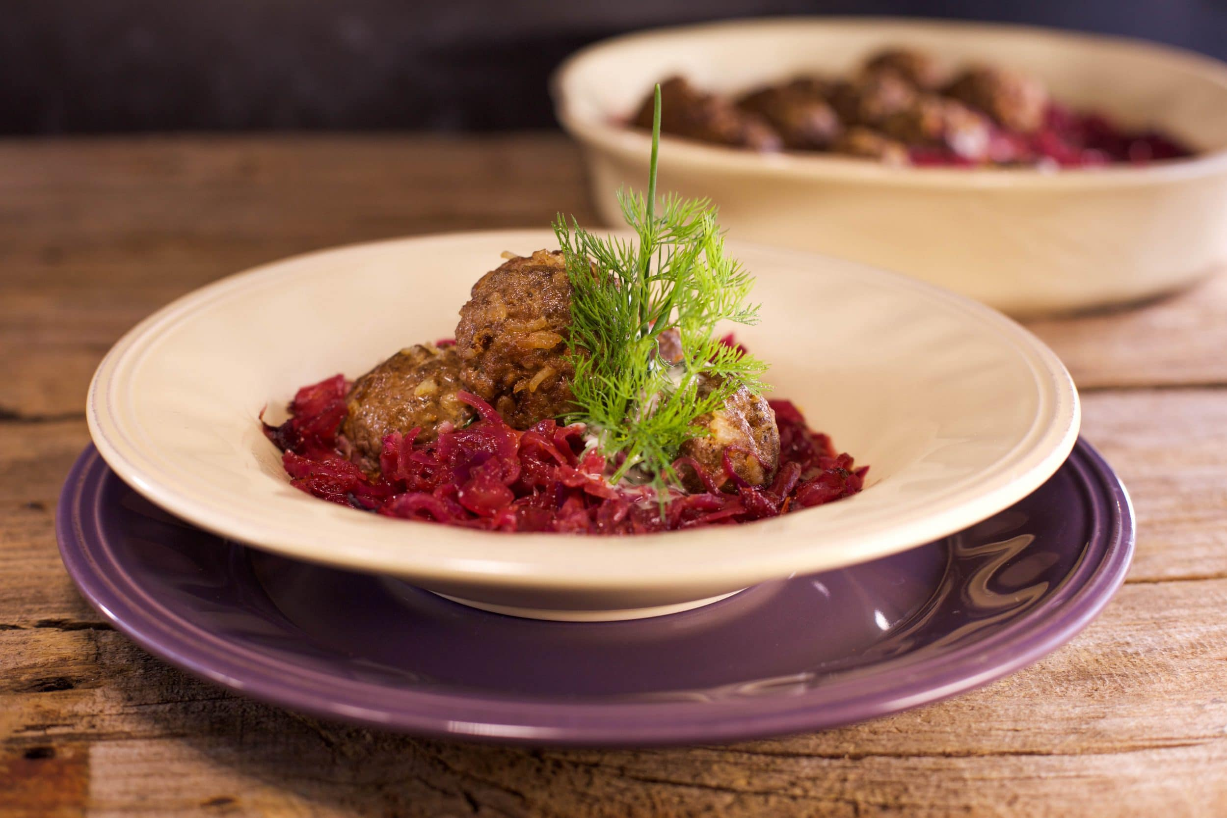 Sweet and Sour Cabbage with Meatballs